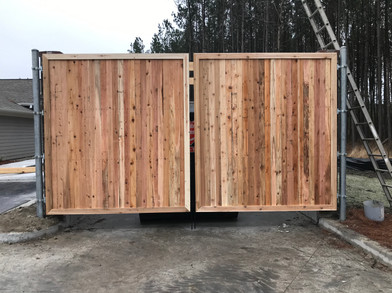 Privacy Wood Dumpster Enclosure Gates