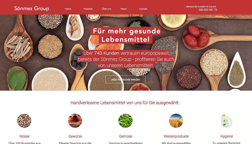 Neue Sönmez Group Website