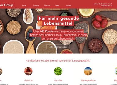 Die Lebensmittel Großhändler Website der Sönmez Group präsentiert sich mit neuem Webauftritt