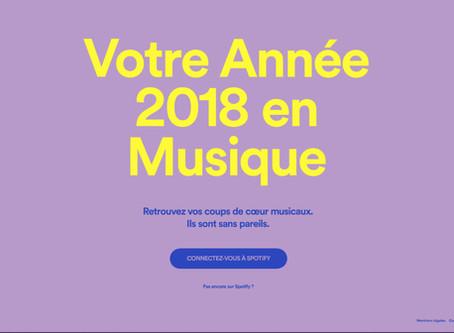 Le récap' de votre année 2018 sur Spotify
