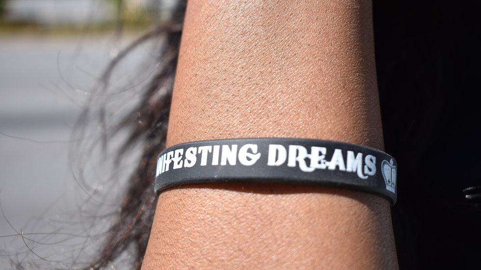 Black Manifesting Dreams Wrist Band