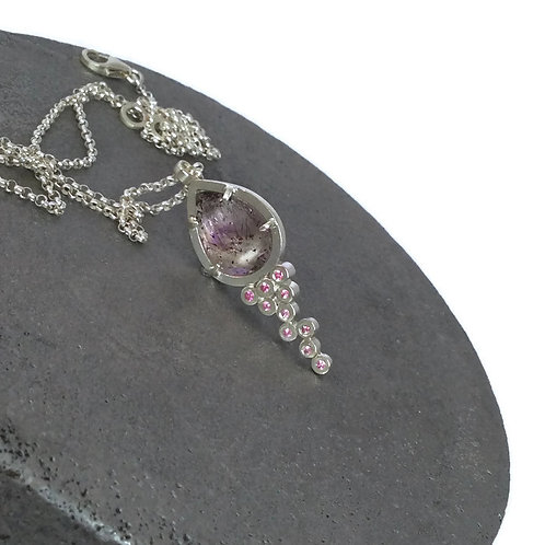 Strawberry Quartz And Pink Sapphire Pendant