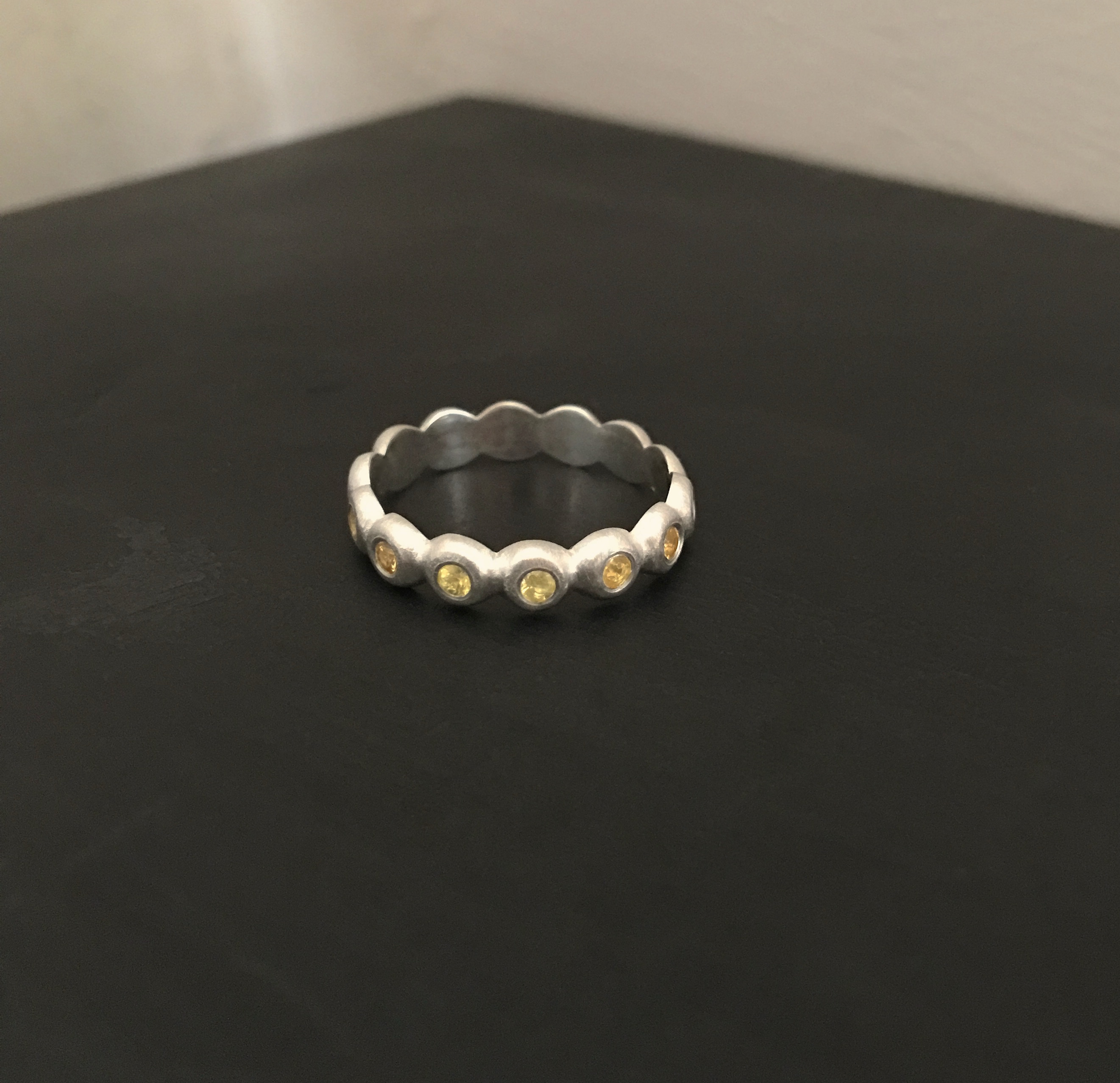 Canary Yellow Sapphire Eternity Ring