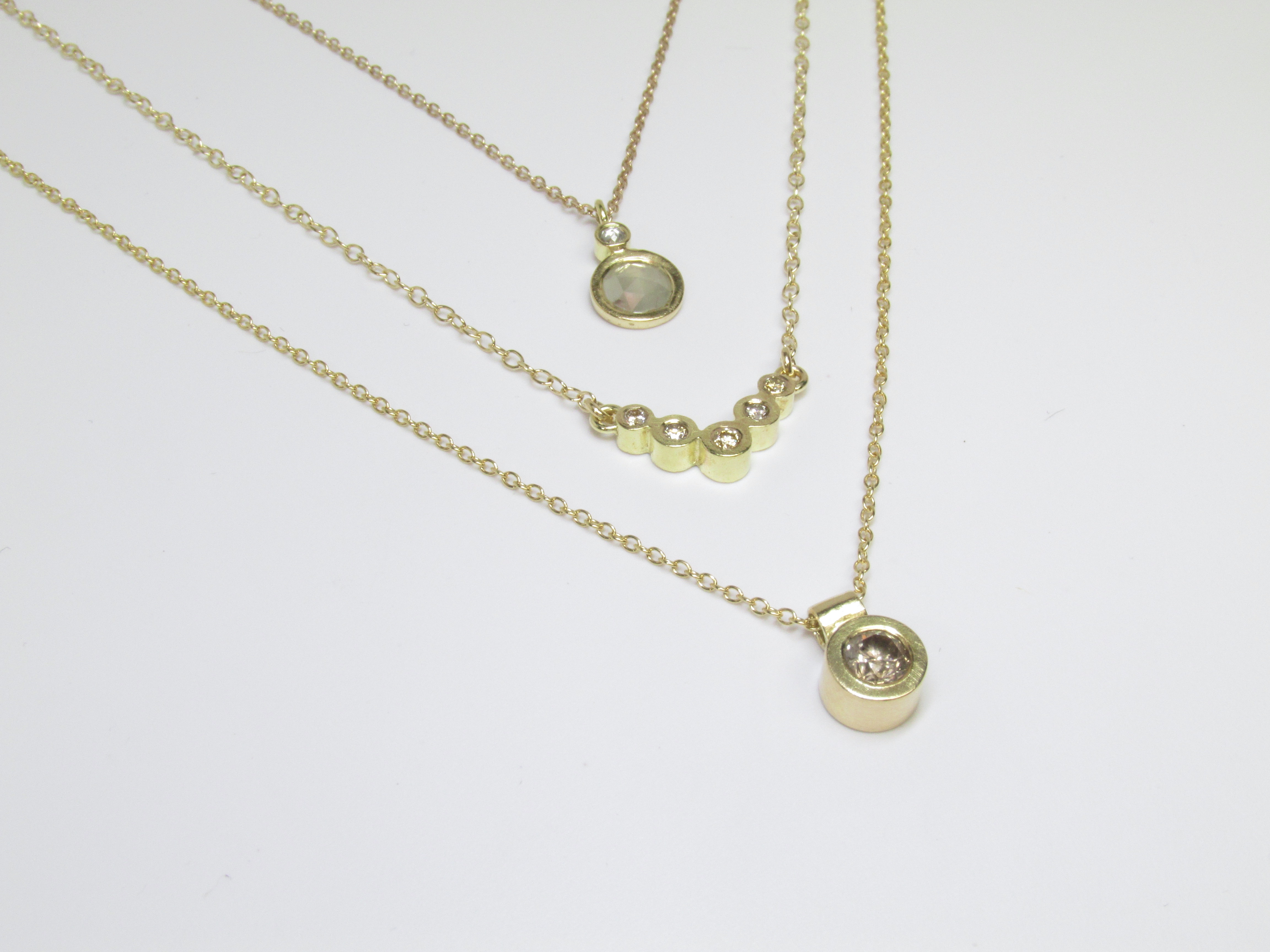 Gold + Diamond Pendants