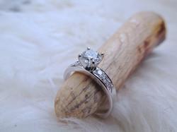 Platinum + Diamond Engagement Ring