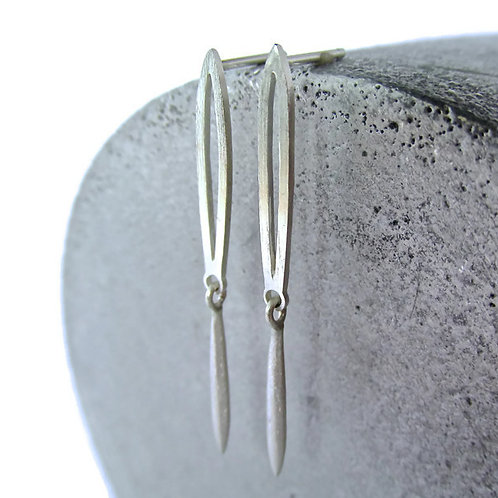 Wild Rice Drop Earrings In Sterling Silver
