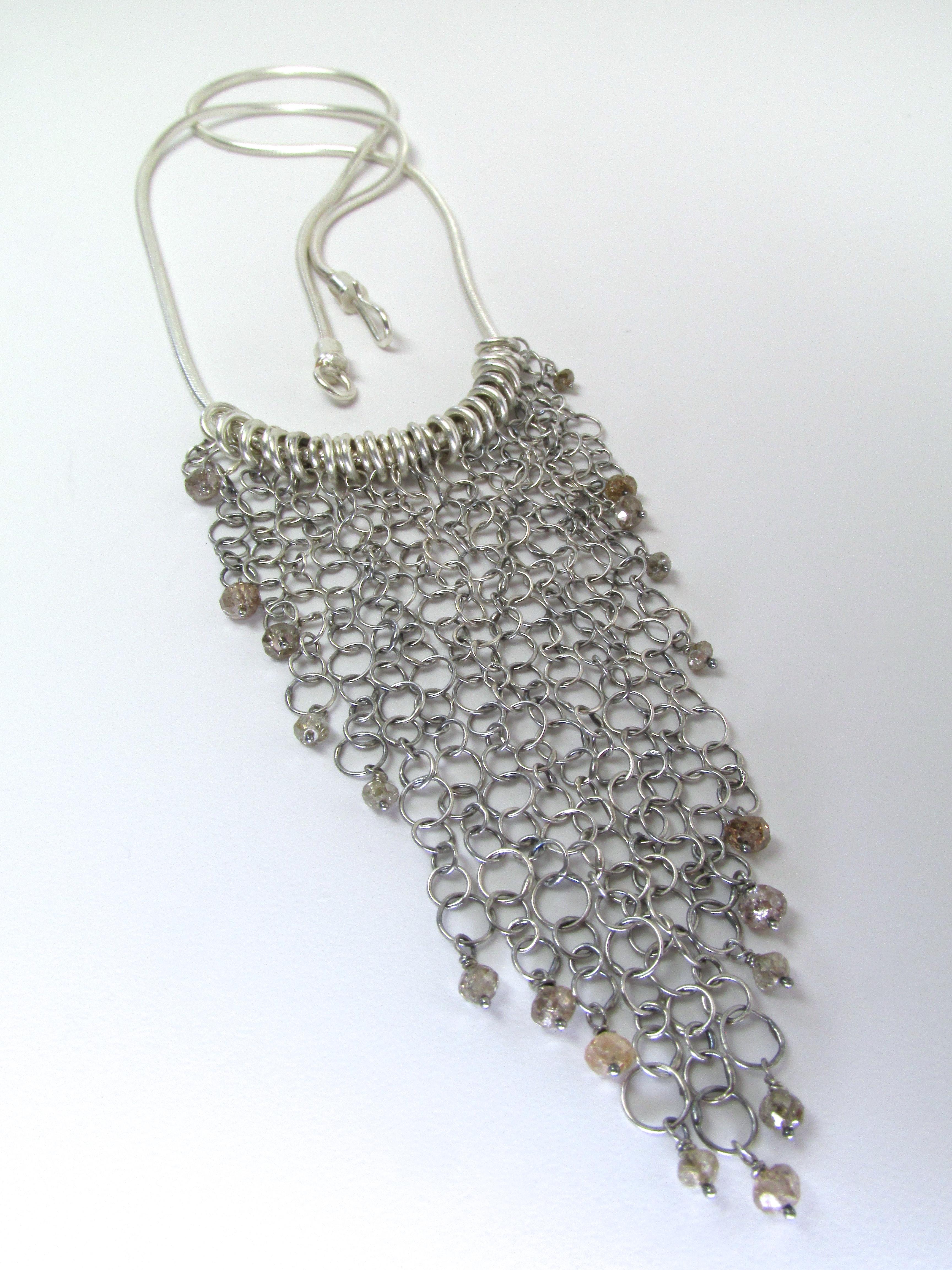 Handmade Chain With Diamond Beads