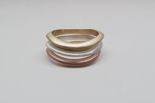 Rippling Wave Rings