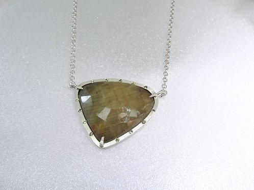 Grand Rose Cut Sapphire Pendant