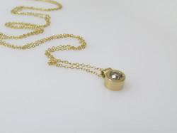 Gold + Champagne Diamond Pendant