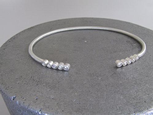 Open Cuff Sapphire Bracelet
