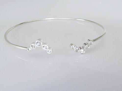 Chevron Open Cuff Bracelet