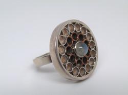 Circle Packing Ring w/Moonstone