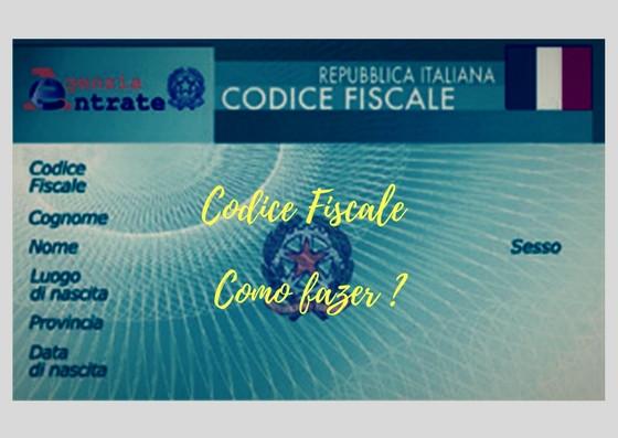 como fazer o codice fiscale