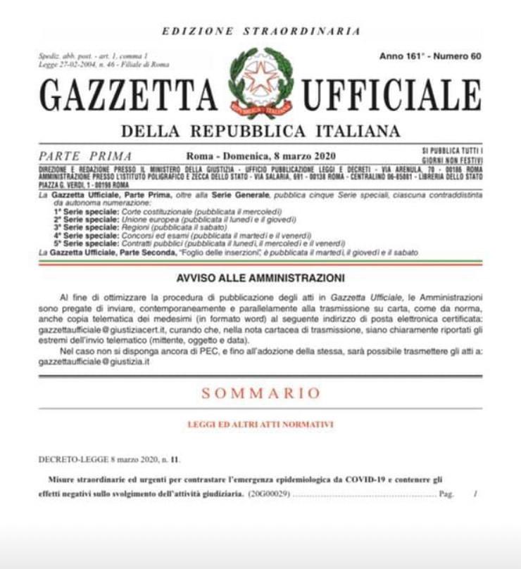 processos na Italia coronavirus