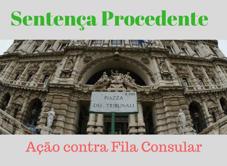 Ação contra Fila Consular - Sentença Procedente