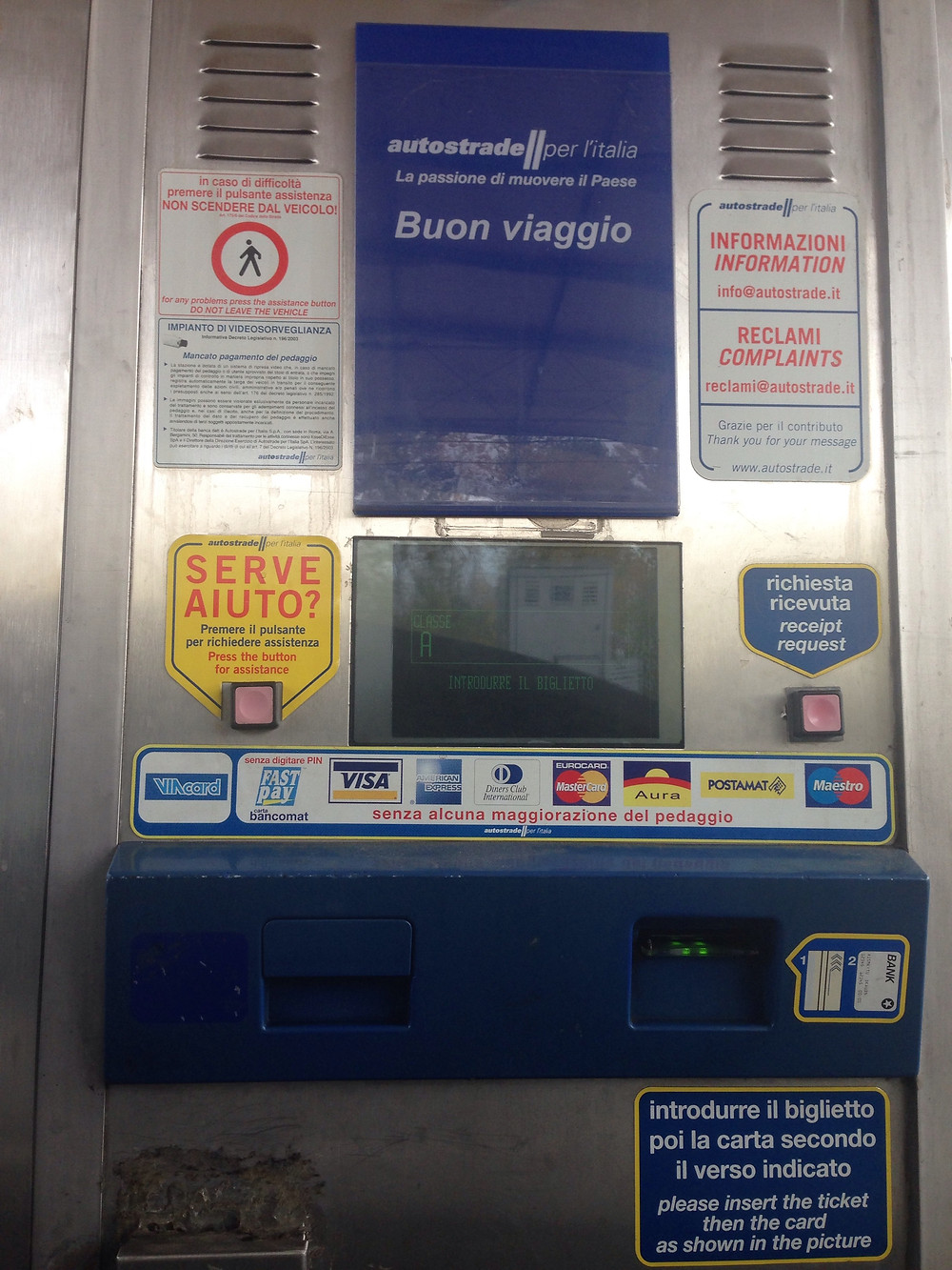 pedágio na Itália