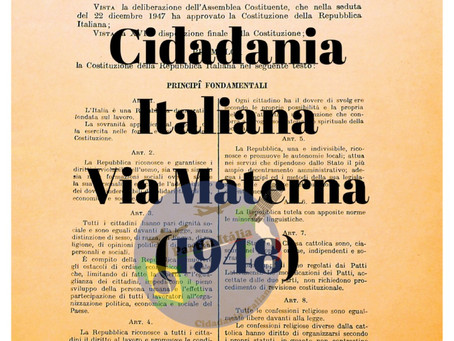 Entenda a Cidadania por Via Materna (1948)