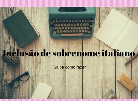 Inclusão do Sobrenome Italiano