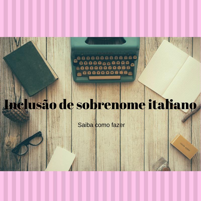 sobrenome italiano; inclusão