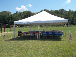 Tent party area