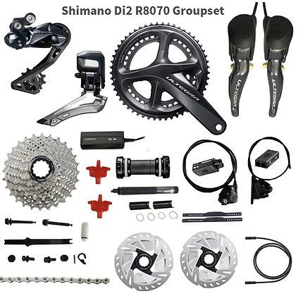 Grupo Road Shimano R8070 Disc Eletronico Ultegra 11 Velocidades