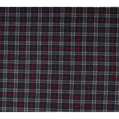 XXXL Dog Cone-Black and Red Pinstripe Flannel