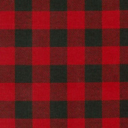 XL Dog Cone-Red and Black Flannel