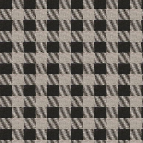 Medium Dog Cone-Black and Grey Flannel