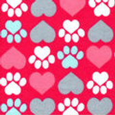 Extra Small Dog and Cat Cone-Pink with Hearts and Paws