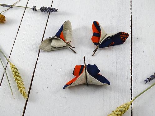 Barrettes origami papillon