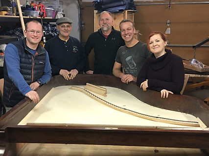 Alaska Piano Servies Inc. creates a training for the Alaska Chapter of PTG in Piano Soundboard Replacement with Pianos Bolduc.