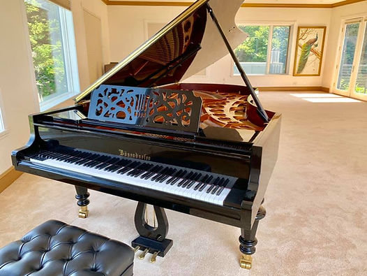 This piano was just rested in its new home on a 3rd story