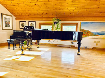Beautiful Grand Piano Moved by Alaska Piano Services Inc.
