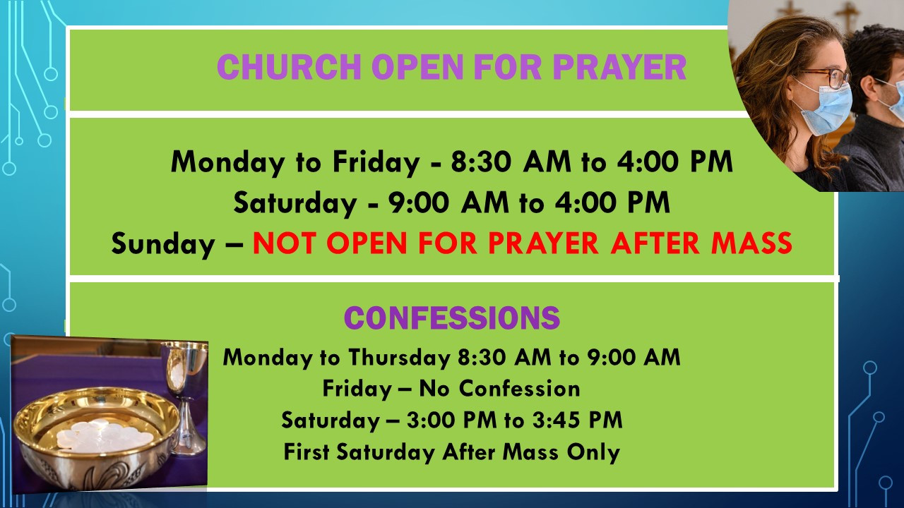 Revised Church Open for Prayer Announcem
