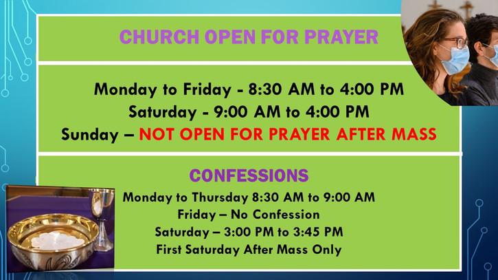 Revised Church Open for Prayer Announcem