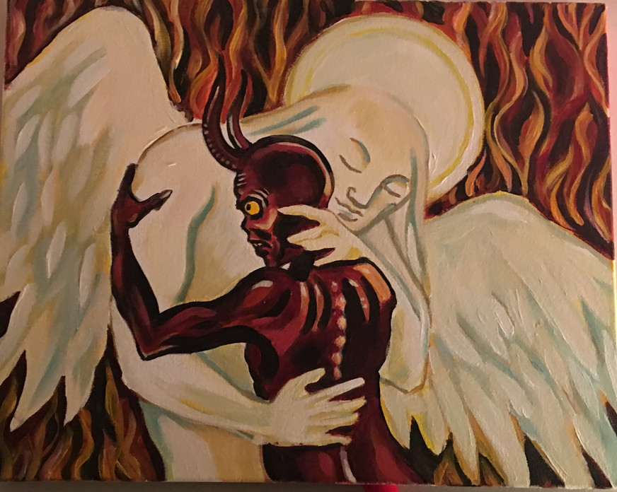Let's Love the Hell Out of Each Other (acrylic on canvas)