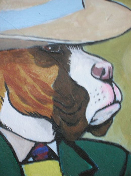 Doggy Daycare Mural (indoors; detail)