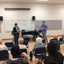 Jason teaching a master class at the University of Arizona