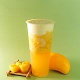 mango jasmine green tea w/ cheese foam
