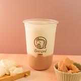 Taro fresh milk w/ vanilla pudding
