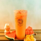 Peach watermelon jasmine green tea w/ yakult