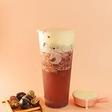 Grape jasmine green tea w/ cheese foam