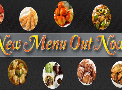 Lastest New Menu Available Now!