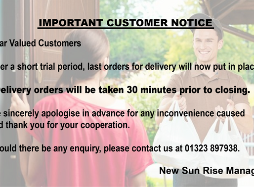 Last Order For Delivery