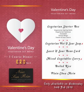 Valentine's Day Vegetarian Set Menu