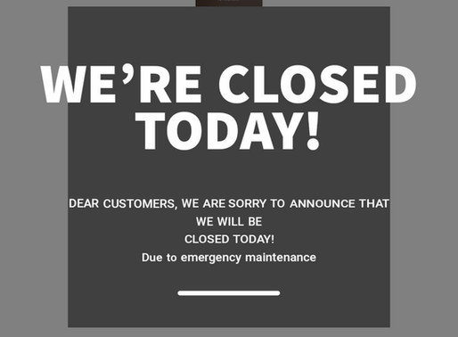 CLOSED Monday 22 June, RE-OPEN Wednesday 24 June