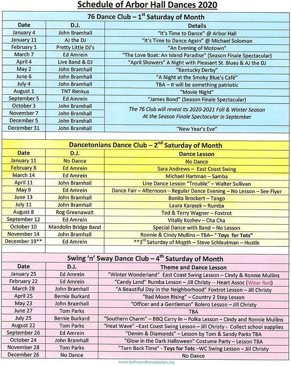 Schedule of Arbor Hall Dances  2020.jpg