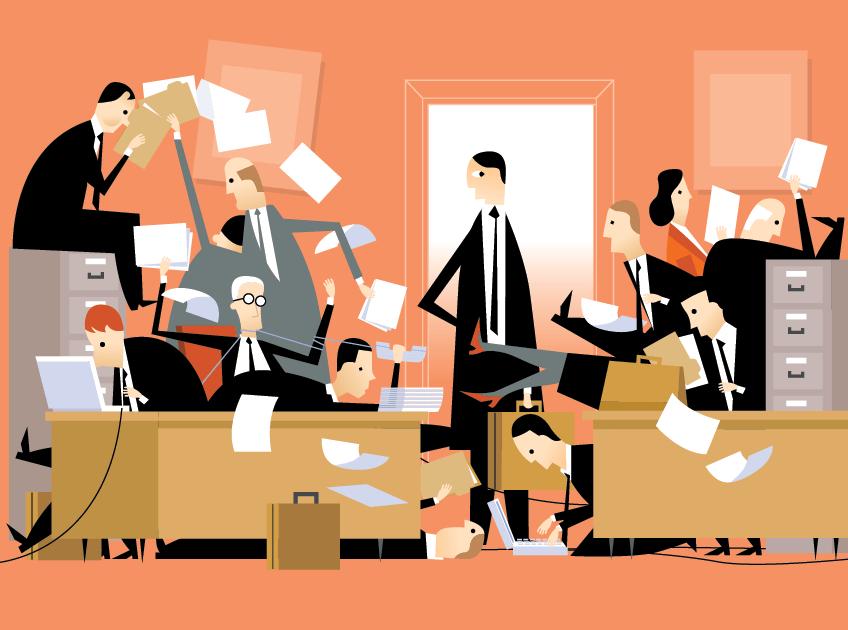 История в картинках о сотрудниках