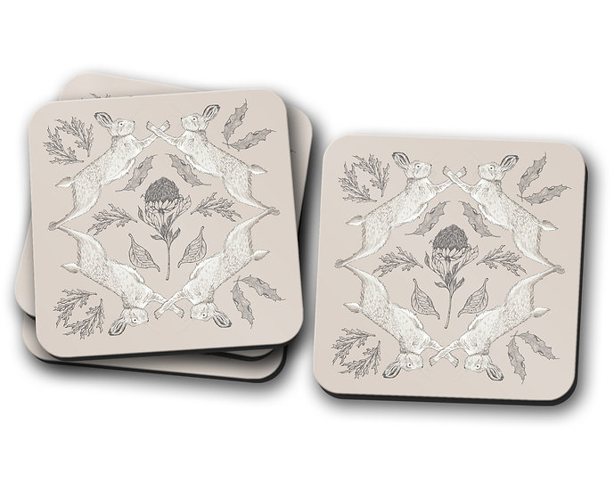 Hare and Thistle Coasters